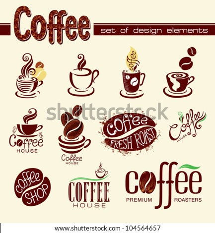 Coffee. Elements for design. - stock vector