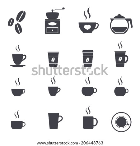 coffee icon set ,vector illustration - stock vector