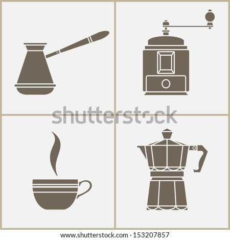 Coffee icons set. vector illustration - stock vector