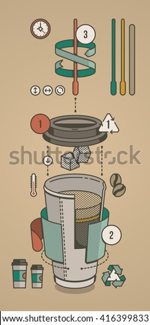 coffee infographic, vector illustration - stock vector