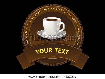 coffee label - stock vector