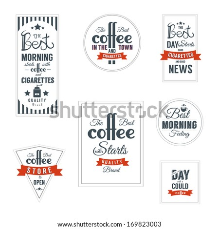 Coffee label template Design - stock vector