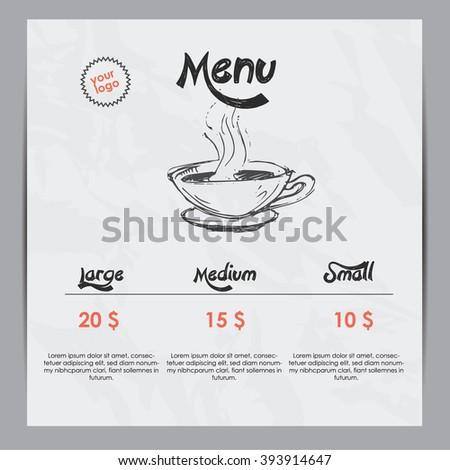 Coffee menu - stock vector