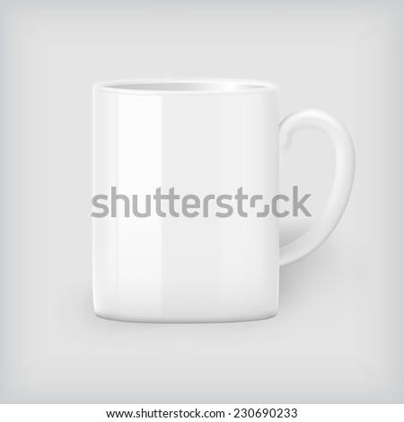 Coffee mug mock up - stock vector