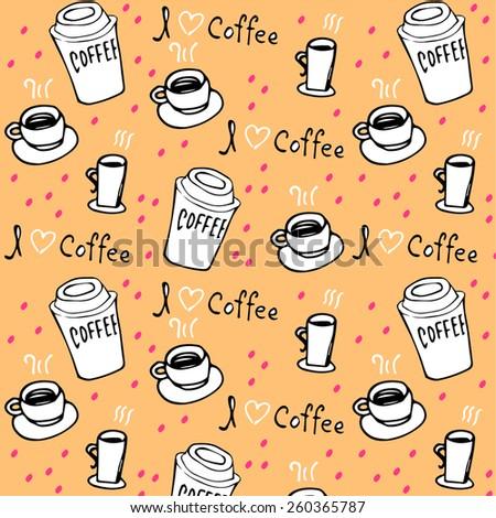 Coffee pattern. - stock vector