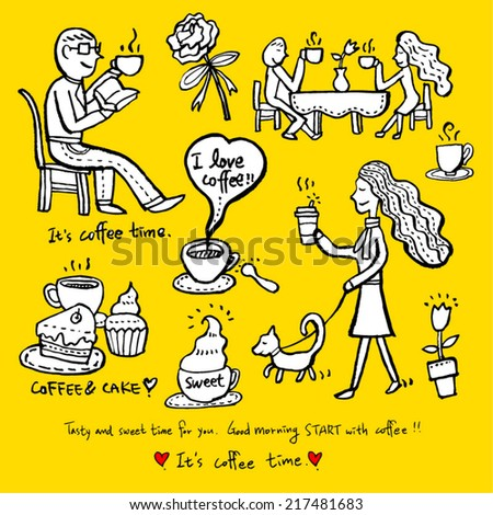 coffee poster - stock vector