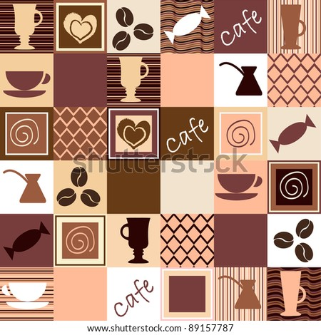 Coffee seamless - stock vector