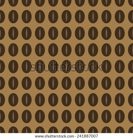Coffee seamless vector pattern - stock vector