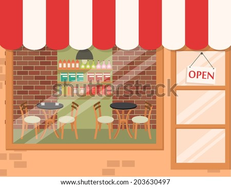 Coffee shop background  - stock vector