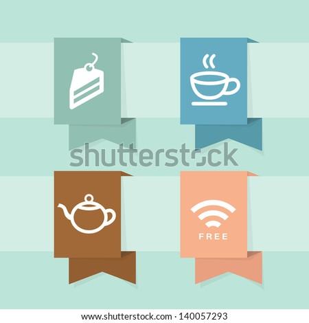 Coffee shop icons design, vector - stock vector