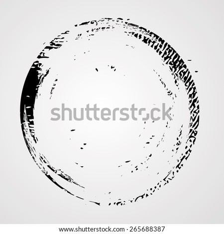 Coffee Stain Ring Vector . Vector Circle Shape . Circle Stamps .  - stock vector