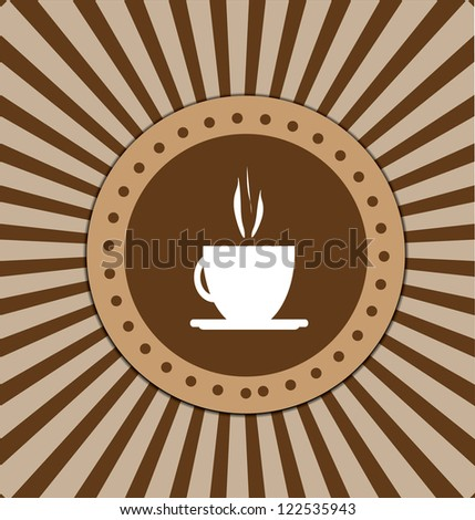 Coffee stamp vector design - stock vector