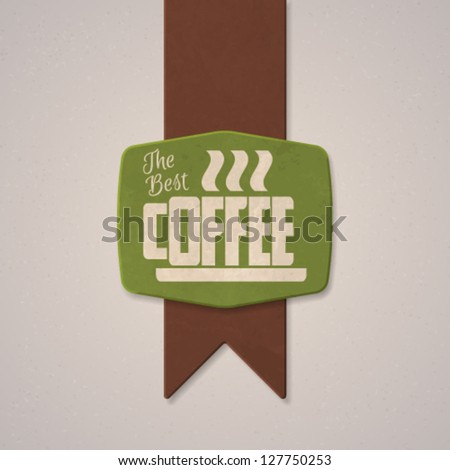 Coffee textured label typography design. Vector illustration. - stock vector