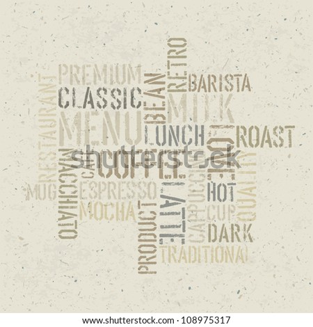 Coffee themed poster design template. Vector, EPS10 - stock vector