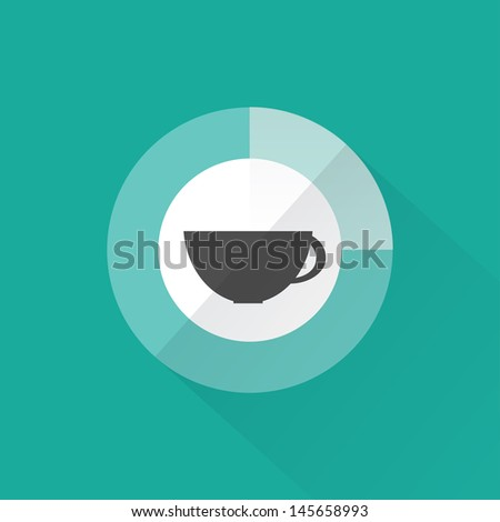 Coffee time, flat design, vector - stock vector