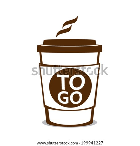 coffee to go  isolated on white background. Vector illustration - stock vector