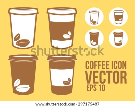 Coffee To go or Takeaway paper coffee cup icon - stock vector