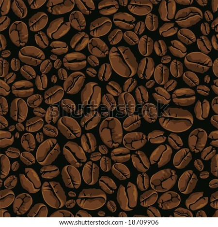 coffee vector seamless - stock vector