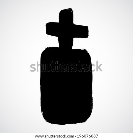 coffin grunge icon - stock vector