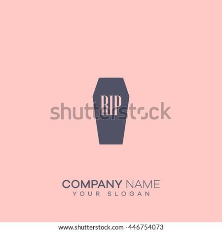 coffin icon. coffin logo - stock vector