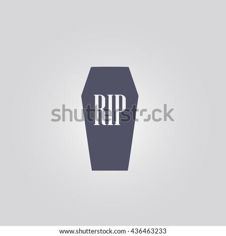 coffin icon. vector. sign - stock vector