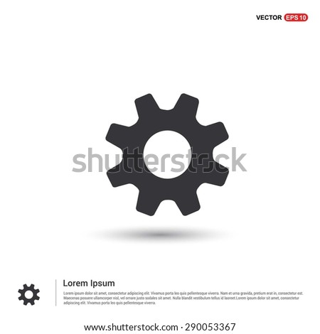 cog wheel gear setting icon - abstract logo type icon - isometric white background. Vector illustration - stock vector