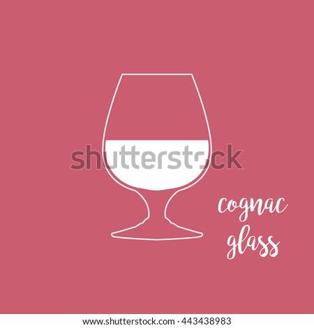 Cognac glass icon - stock vector
