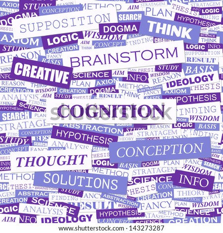 COGNITION. Word cloud concept illustration.  - stock vector