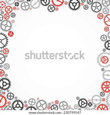 Cogwheel frame. Vector illustration - stock vector