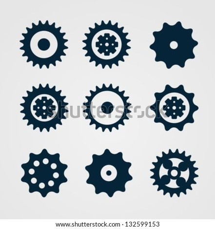 Cogwheel set - stock vector