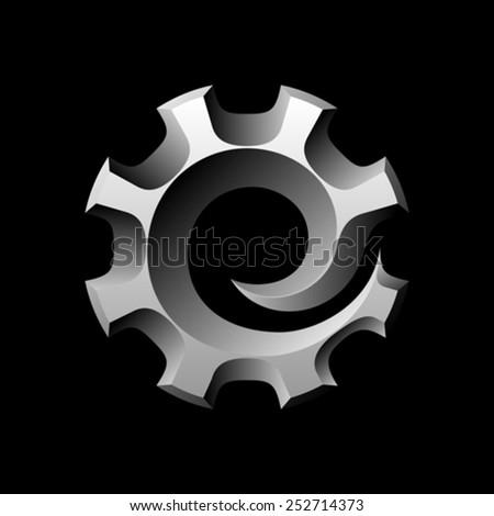 Cogwheel vector logo design template - stock vector