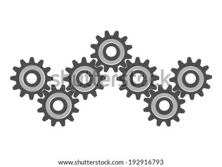 Cogwheels on white background   - stock vector