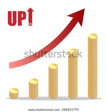 Coins stair, up , evolution,breakthrough - stock vector