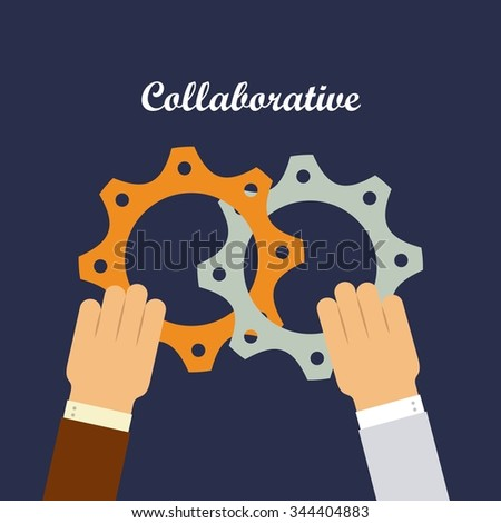 colaborative people design, vector illustration eps10 graphic  - stock vector