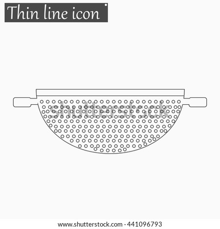 Colander icon Vector Style thin line - stock vector