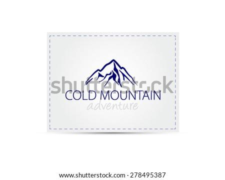 cold mountain logo sign - stock vector