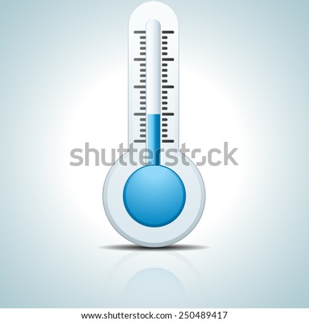 Cold Thermometer - stock vector