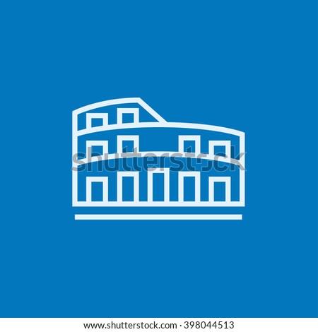 Coliseum line icon. - stock vector