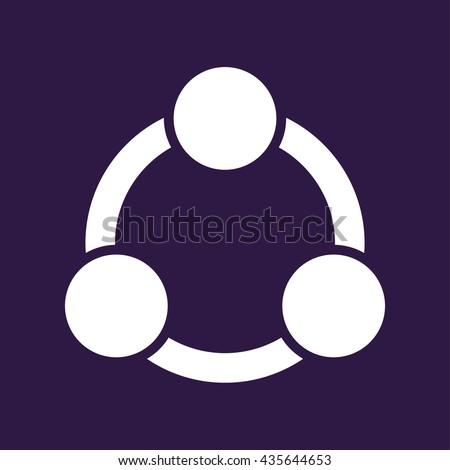 Collaboration icon . Vector illustration - stock vector