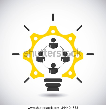 collaborative people design, vector illustration eps10 graphic  - stock vector