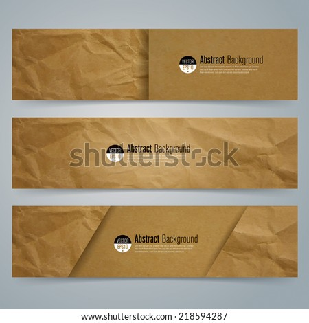 Collection banner design, Brown paper background, vector illustration. - stock vector