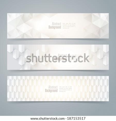 Collection banner design, white background, vector illustration. - stock vector