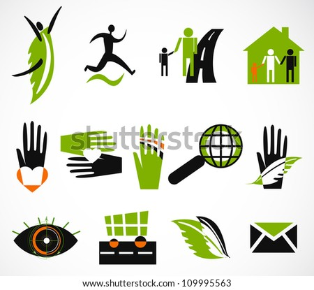Collection creative icon. Vector illustration - stock vector