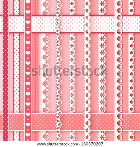 Collection design elements for scrapbook. Vector illustration. - stock vector
