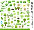Collection Eco Design Elements, Isolated On White Background, Vector Illustration - stock vector