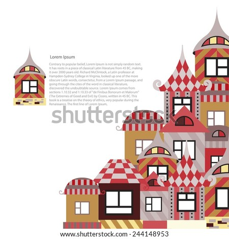 Collection of abstract house. The design of the pages, catalogs or brochures. - stock vector