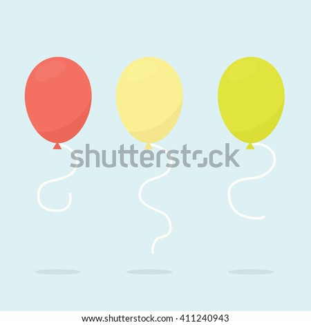 collection of balloons - stock vector