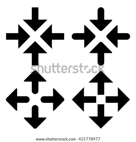 Collection of black arrow symbols - stock vector