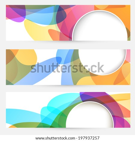 Of bright abstract design cards vector illustration stock vector