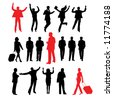 Collection of business peoples - stock vector